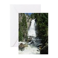 Fish creek falls in Steamboat Spring Greeting Card