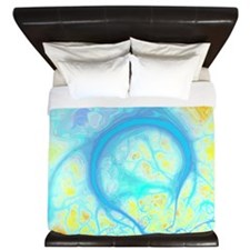 Streams of Joy Cosmic Aqua Lemon King Duvet