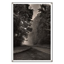 Fog in blue ridge parkway near Lynchburg Vi Banner