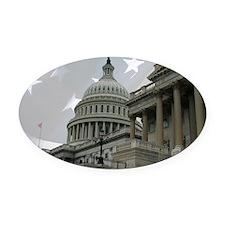 US Capitol 11partiotic Oval Car Magnet
