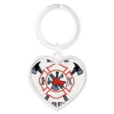 Fire Fighters Wife Heart Keychain