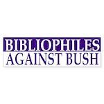 Bibliophiles Against Bush (bumper sticker)