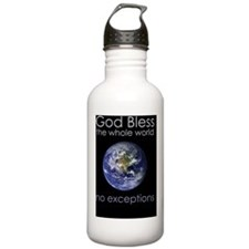 GodBlessTheWholeWorld Water Bottle