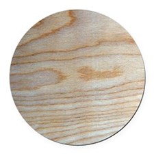 Chic Wood Grain Unique Designer Round Car Magnet