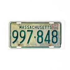 Massachusetts License Plate Aluminum License Plate