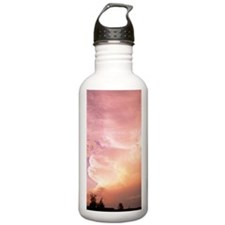 Sunset clouds Water Bottle