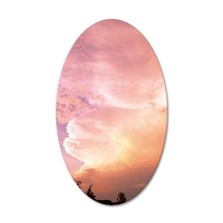 Sunset clouds 35x21 Oval Wall Decal