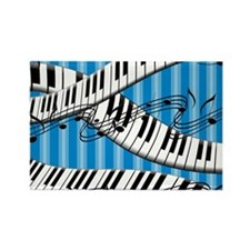 Piano Blues Jazz Music Rectangle Magnet