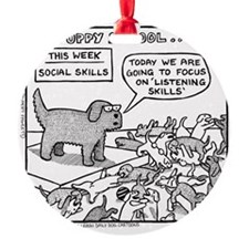 Puppy School - Listening Skills Ornament