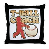 T-Ball Coach Throw Pillow