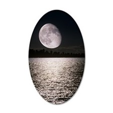Waning gibbous moon Wall Decal