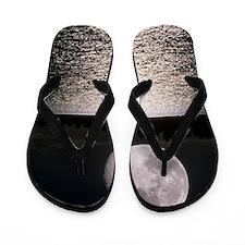Waning gibbous moon Flip Flops