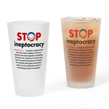 Stop Obama's Ineptocracy Drinking Glass