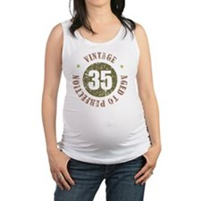 35th Vintage birthday Maternity Tank Top