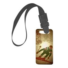 Vintage Ski NH Poster Luggage Tag