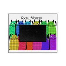 social worker cats horizi blanket Picture Frame