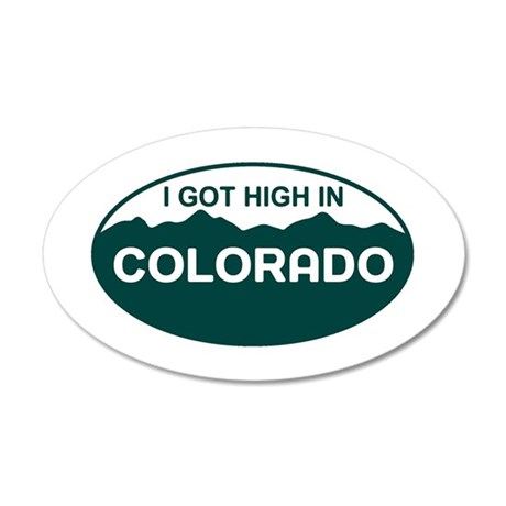 CO - Colorado 35x21 Oval Wall Decal