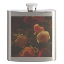 Roses I - Orange, Red and Gold Glory Flask