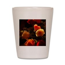 Roses I - Orange, Red and Gold Glory Shot Glass