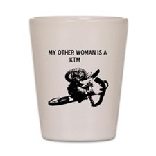 motocross my other woman is a ktm Shot Glass