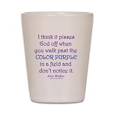Color Purple Shot Glass