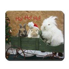 Bunny Trio Christmas Mousepad