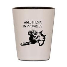 motocross anesthesia in progress Shot Glass