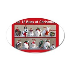 Twelve Buns of Christmas Wall Decal