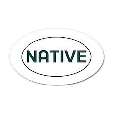 CO - Colorado - Native 35x21 Oval Wall Decal
