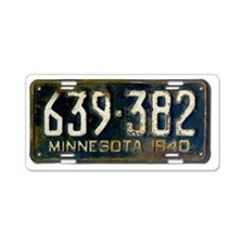 1940 Minnesota License PLat Aluminum License Plate