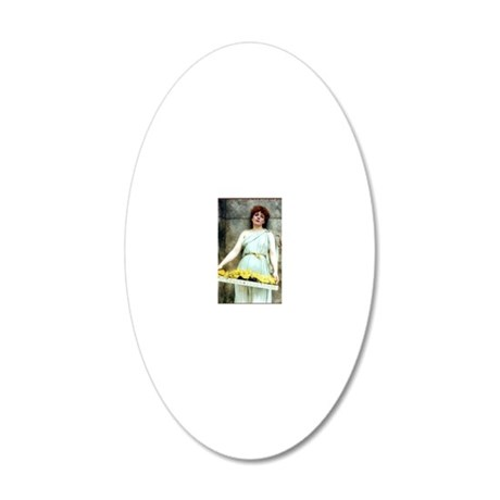 A Flower Seller 20x12 Oval Wall Decal