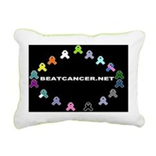 BEATCANCER.NET Banner Rectangular Canvas Pillow