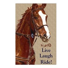 Live! Laugh! Ride! Horse Postcards (Package of 8)