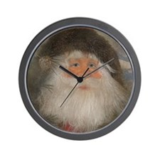Mountain Santa Wall Clock