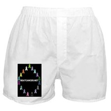 BEATCANCER.NET Framed Panel Print Boxer Shorts