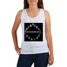 BEATCANCER.NET Yard Sign Women's Tank Top