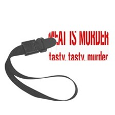 meatmurderrectangle Luggage Tag