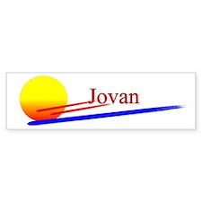 Jovan Bumper Bumper Sticker