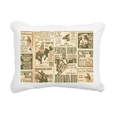Vintage Rodeo Round-Up Rectangular Canvas Pillow