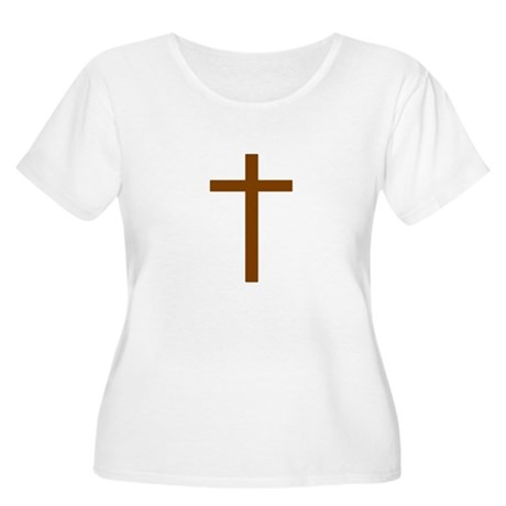 Brown Cross Women's Plus Size Scoop Neck T-Shirt