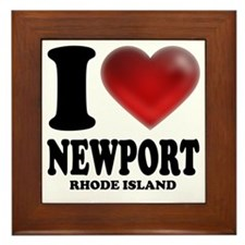 I Heart Newport Framed Tile