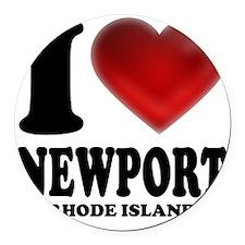 I Heart Newport Round Car Magnet