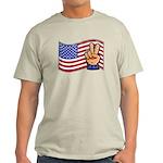 Patriotic Peace Hand Light T-Shirt