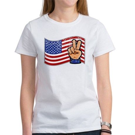 Patriotic Peace Hand Women's T-Shirt
