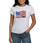 Patriotic Peace Hand Women's T-Shirt