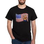Patriotic Peace Hand Dark T-Shirt