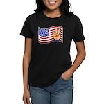Patriotic Peace Hand Women's Dark T-Shirt