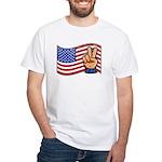 Patriotic Peace Hand White T-Shirt