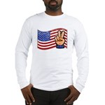 Patriotic Peace Hand Long Sleeve T-Shirt