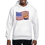 Patriotic Peace Hand Hooded Sweatshirt